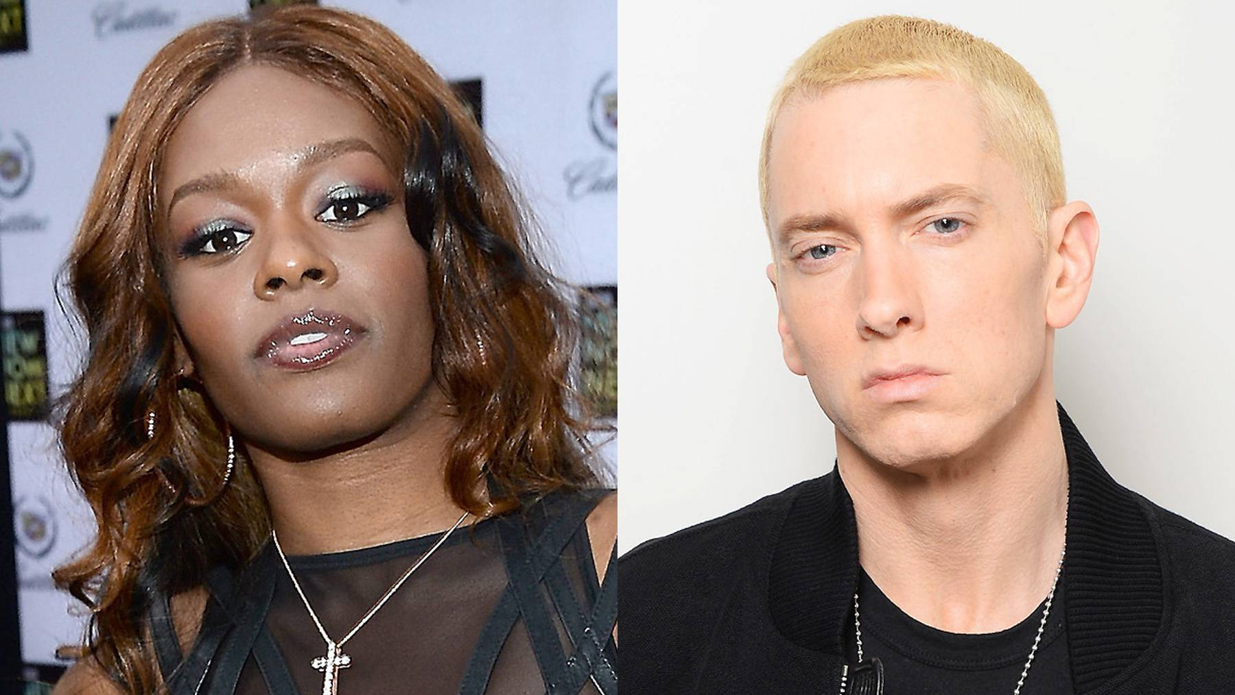 Azealia Banks vs. Eminem - Eminem is back with more of his shock value lyrics. This time herhymes that he?ll deliver a beat down to singer/songwriter Lana Del Reyand thelines didn?t sit too well withAzealia Banks. ?@LanaDelRey tell him to go back to his trailer park and eat his microwave hotpocket dinner and suck on his sisters t**ties,? she posted to Twitter.(Photos from left: Michael Buckner/Getty Images for LOGO, Dave J Hogan/Getty Images for MTV)