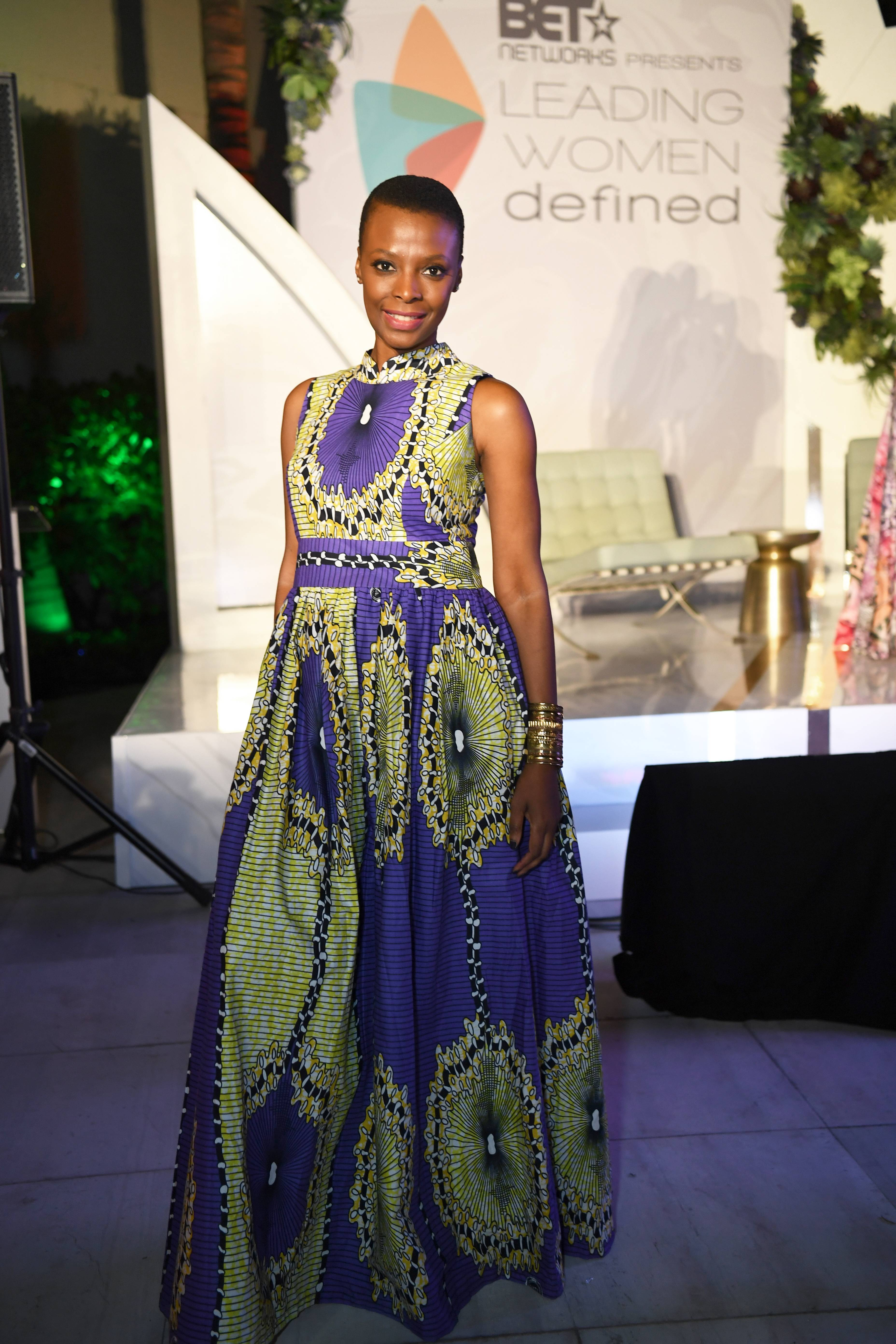 Came to Slay - Another beautiful gown made a statement at the festivities.(Photo: Phelan Marc/BET)