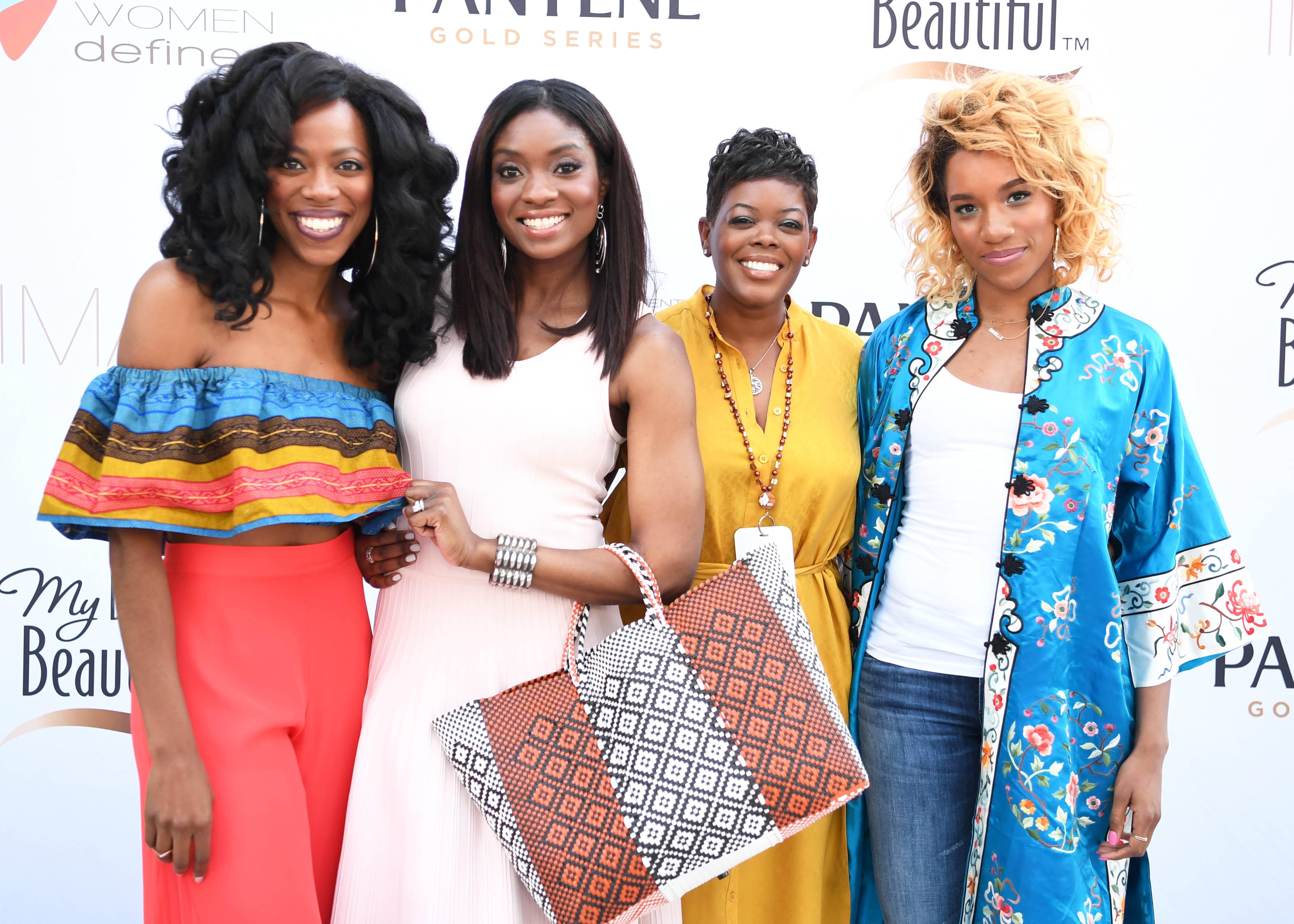 Yvonne Orji, Lola Ogunnaiake, Tina Wells, and Danielle Prescod - (Photo: Phelan Marc/BET)