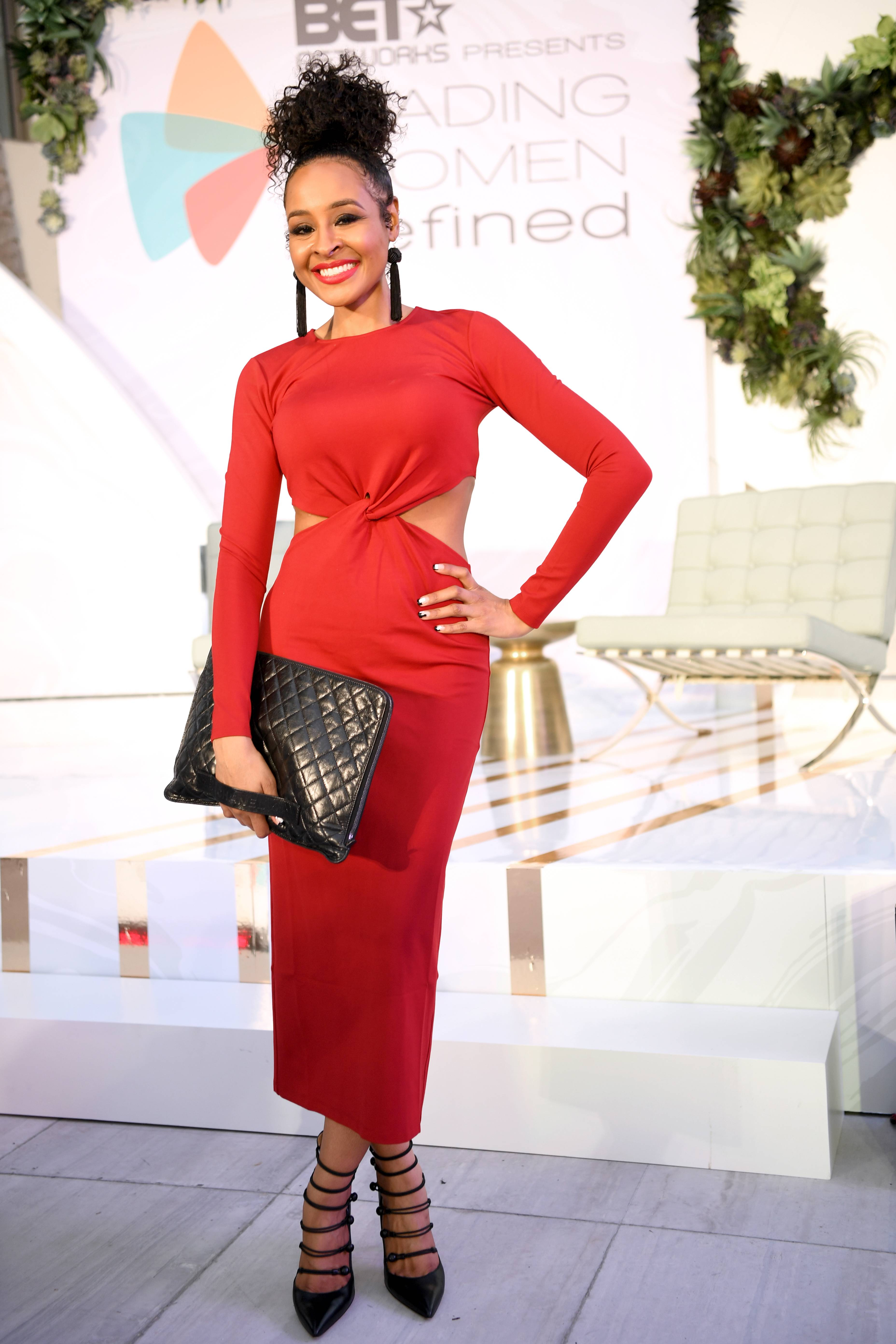 Janell Snowden - The national television journalist rocked her best red ensemble!(Photo: Phelan Marc/BET)