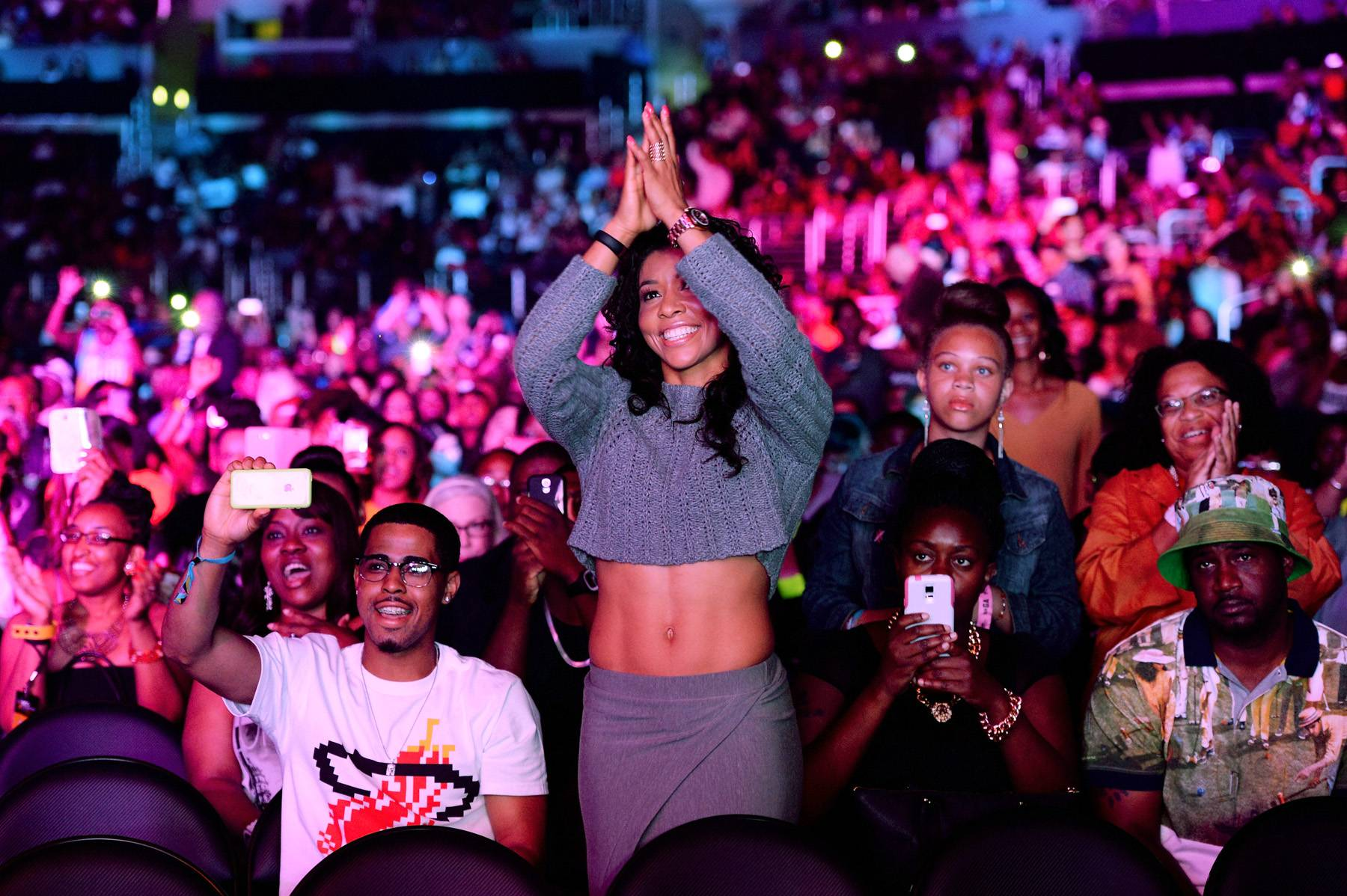 Crowd Appreciation - The audience enjoyed an array of good music throughout the night.(Photo by Earl Gibson/BET/Getty Images for BET)