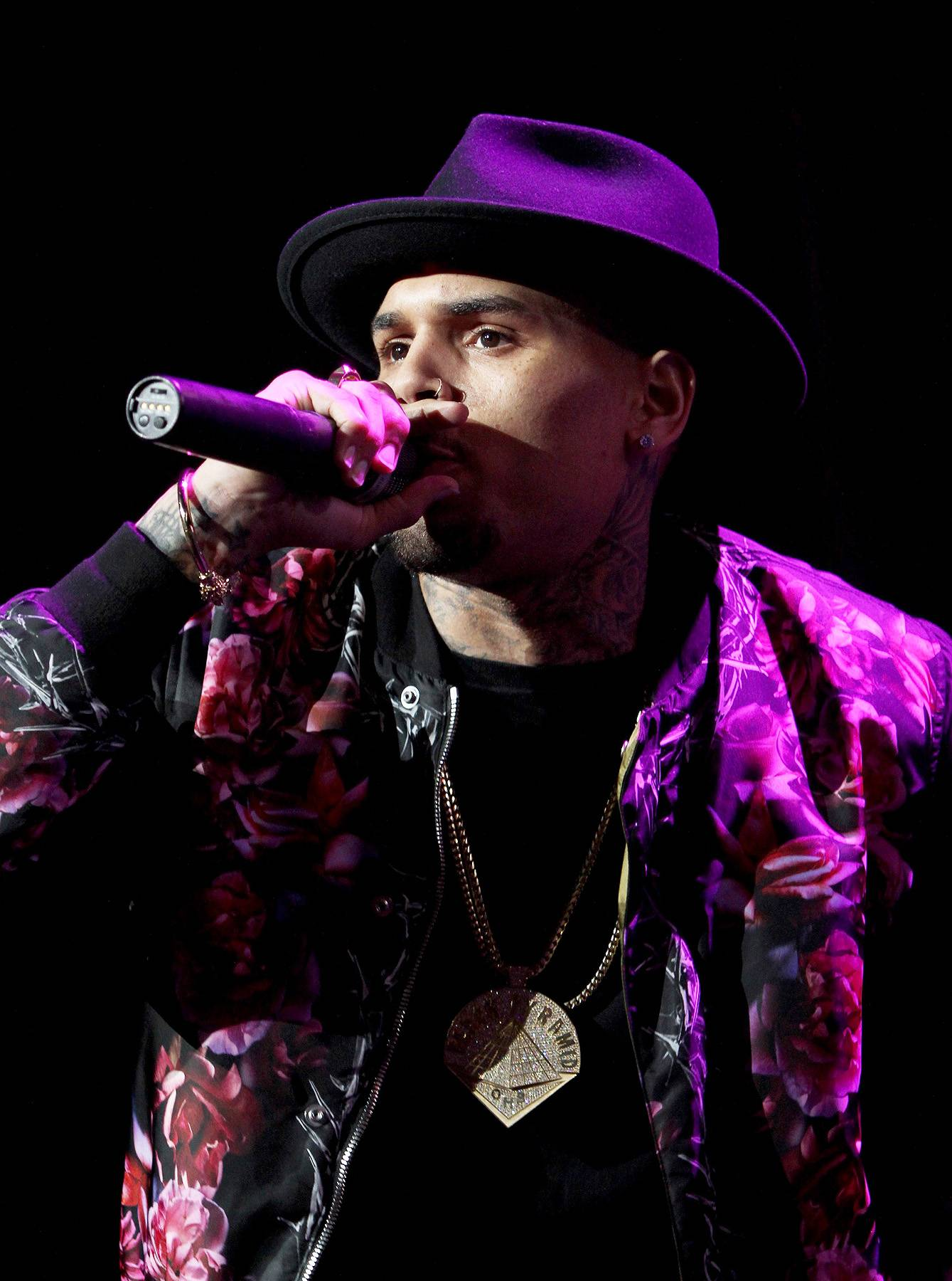 """Just Like Old Times - It didn't take long for Chris Brownto grab the audience. Getting back on stage is just like riding a bike for the """"Loyal"""" singer. (Photo: Maury Phillips/BET/Getty Images for BET)"""