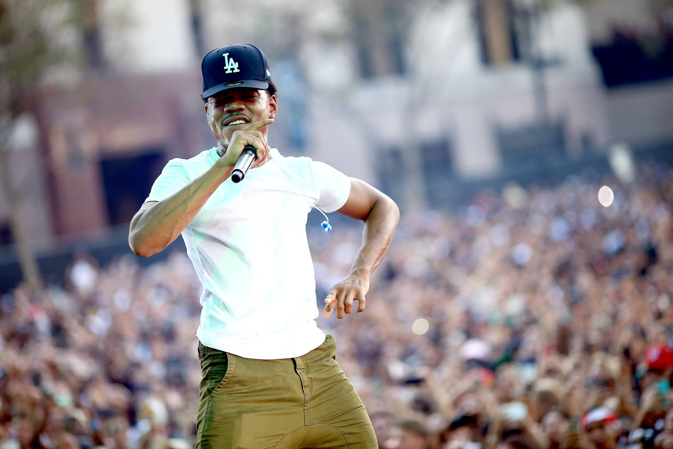 Chance the Rapper - Chance recieved a co-sign that came with some acclaim when Community star Donald Glover (a.k.a. Childish Gambino) co-signed his work.   (Photo: Christopher Polk/Getty Images for Anheuser-Busch)