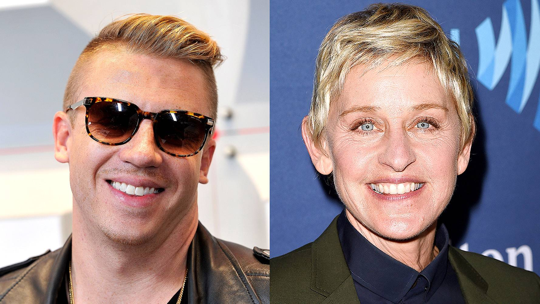 """Macklemore - Who doesn't listen to Ellen? The famous comedian co-signed the rapper on her show after listening to his song """"Same Love.""""(Photos from Left: David Becker/Getty Images for iHeartMedia, Jason Merritt/Getty Images for GLAAD)"""