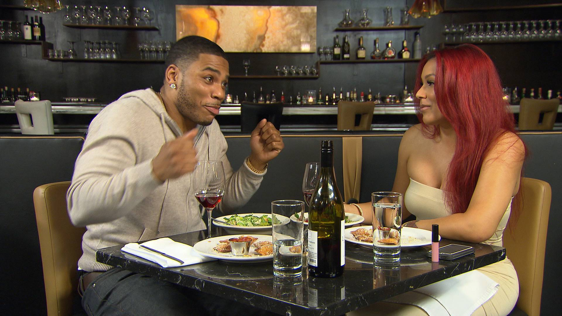 How You React When You See Bae - Nelly's got it down. (Photo: BET)