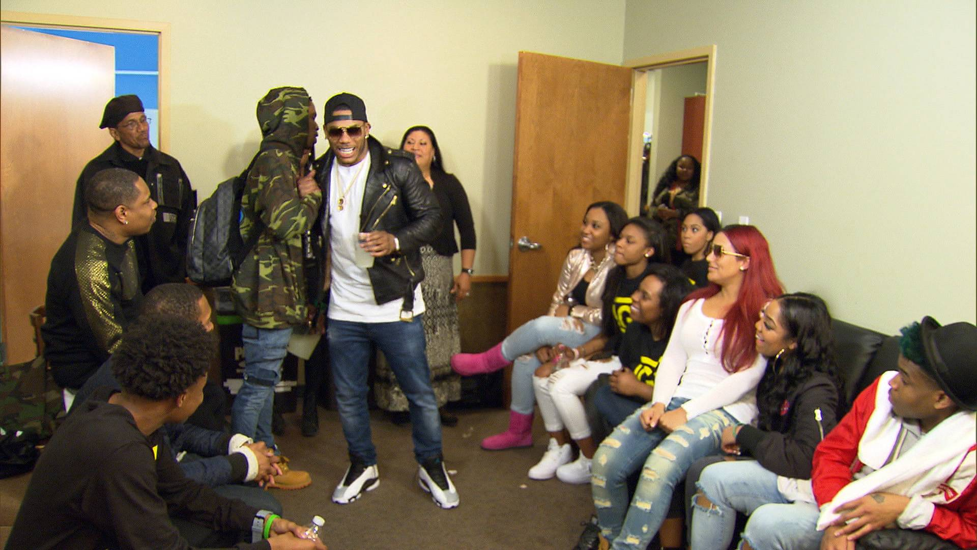 Much Love - Nelly shows his nephew much love and support.(Photo: BET)