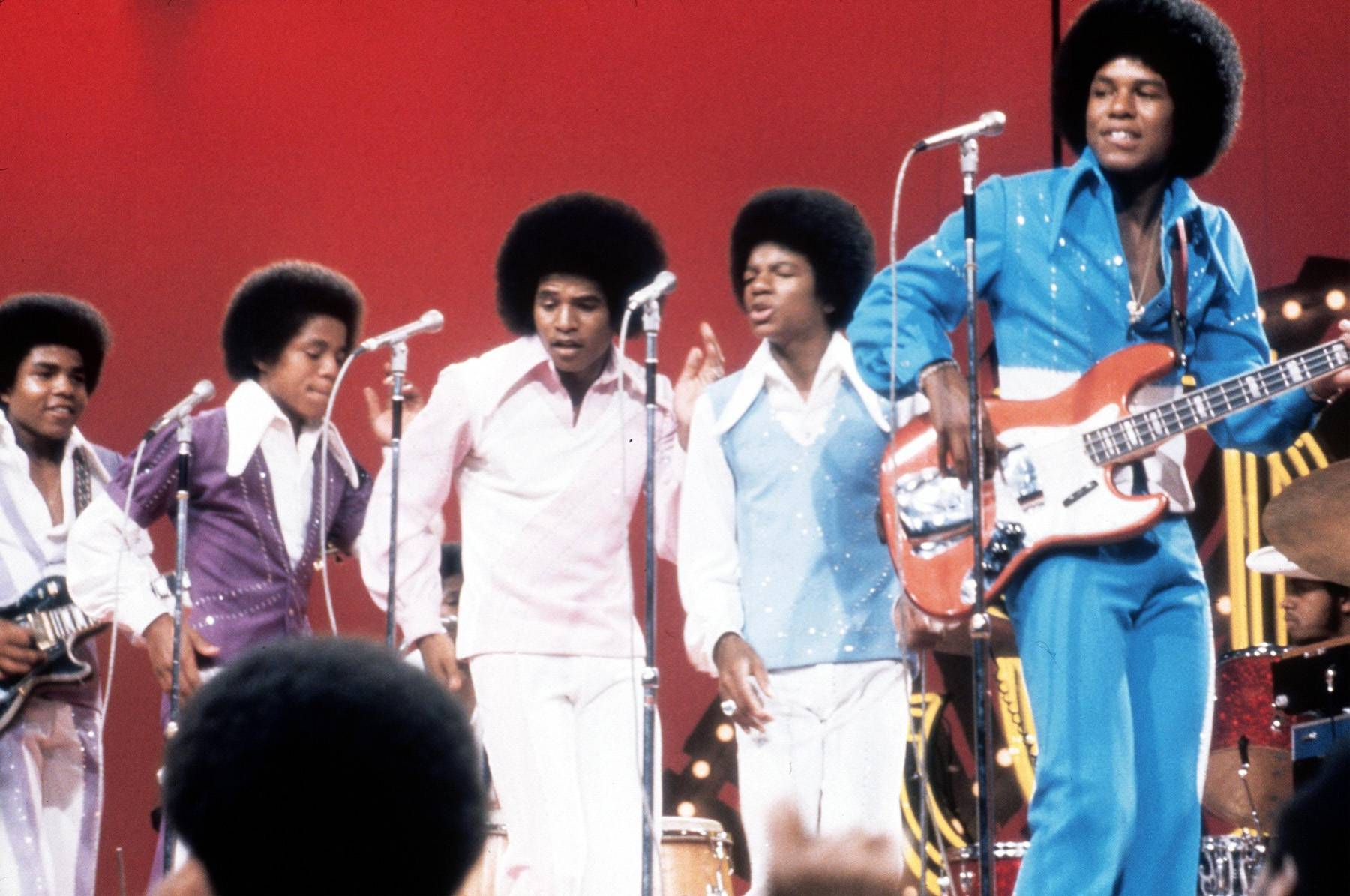 """Doing the Robot on Soul Train - To promote their 1974 hit """"Dancing Machine,"""" the Jackson 5 took the TV stage of Soul Train to perform. Little did the audience know that a teenage Mike had been studying the famous moves of Slim the Robot, a member of the pioneering dance troupe the Lockers. They (and millions across America) witnessed Michael's street-dance skills during the song's breakdown segment as he proceeded to lock, swivel and slide his way to the front of the stage... and into hip hop history."""