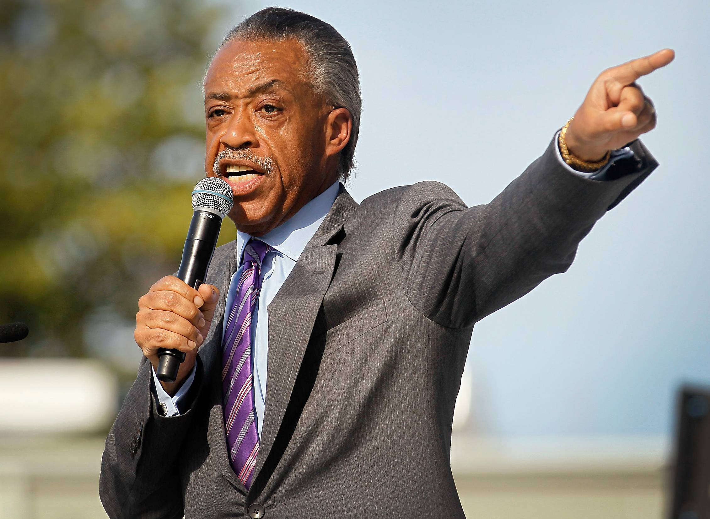 """Rev. Al Sharpton - """"As a Baptist minister, I don't have the right to impose my views on anyone else. If committed gay and lesbian couples want to marry, that is their business; none of us should stand in their way,"""" Sharpton saidin an online video in February.(Photo: Joe Raedle/Getty Images)"""