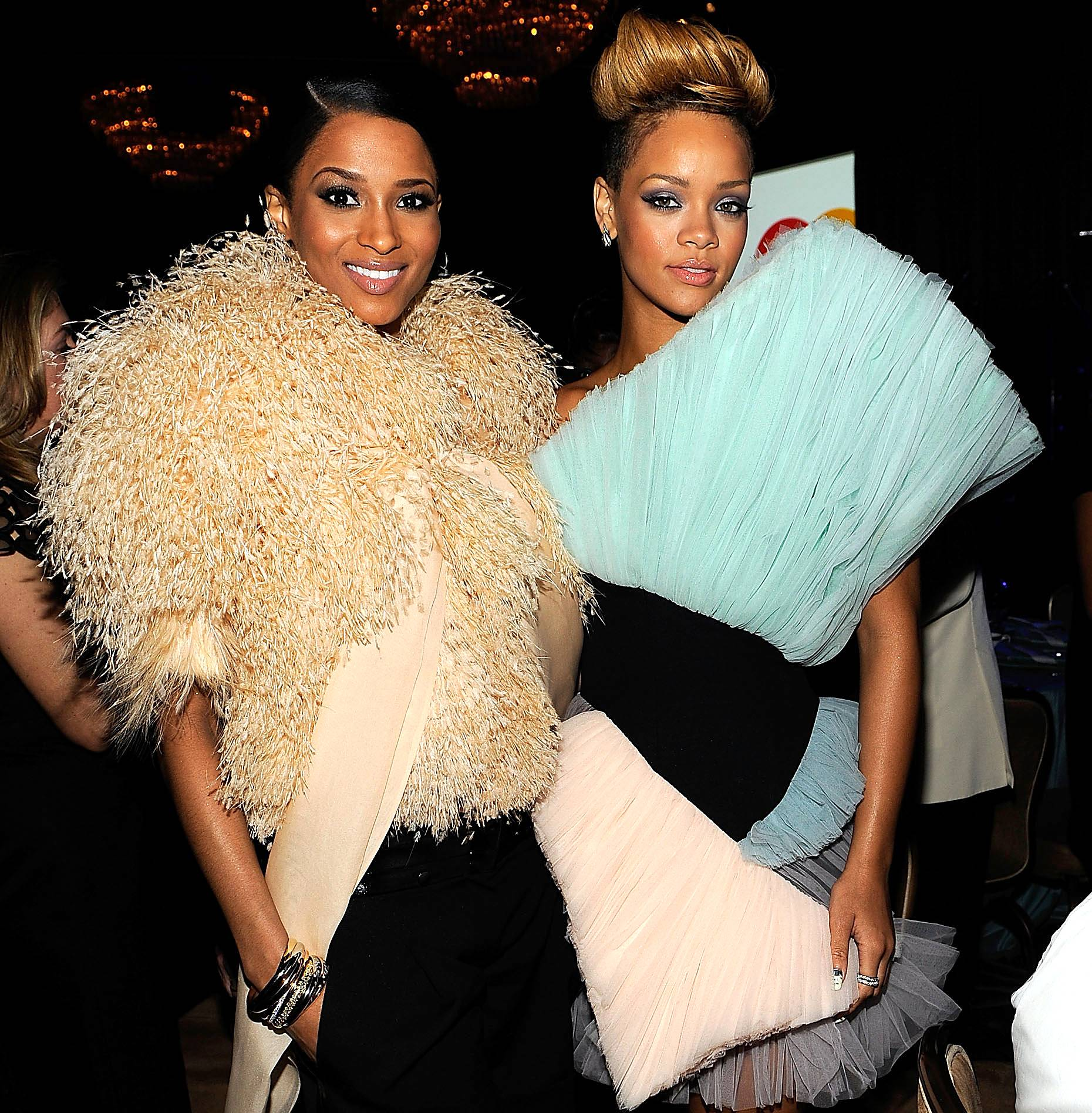 """Rihanna vs. Ciara: The R & Beef That Keeps on Giving - Once upon a time in the land of R&B, two divas didn't see eye to eye, but they buried the hatchet... until now. In the last few weeks Rihanna has been going at Ciara and CiCi has been striking back with positive comments and saying that this """"beef"""" is confusing. Click on to see the ongoing saga of Rihanna vs. Ciara: The R & Beef That Keeps on Giving! (Photo: Larry Busacca/Getty Images for NARAS)"""