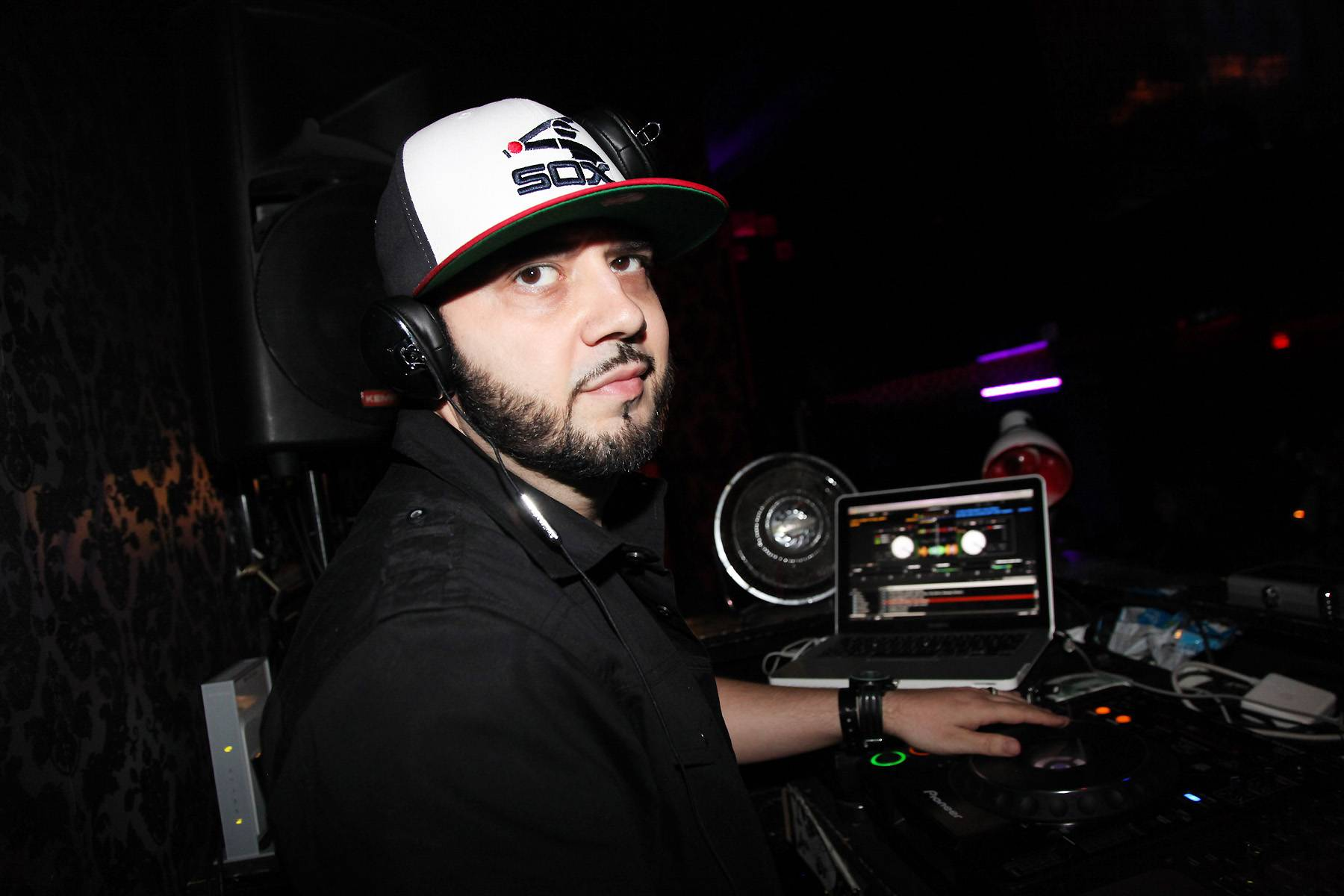 """33. DJ Green Lantern - New York's """"Evil Genius"""" was a force in the mixtape game around the turn of the century, and eventually was handpicked by Eminem to be Shady Records' official DJ in 2002. He's also made a huge mark as a producer, crafting Ludacris' smash """"Number One Spot"""" and grimy classics by Jadakiss, Immortal Technique and others. (Photo: Johnny Nunez/WireImage)"""