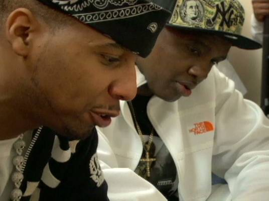 Deliberations - Santana and his coach decide who will be on Team Dipset.