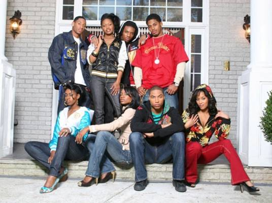 The Housemates - Top Row: Dennis, Shavon, Drew and Anthony. Seated: Sira, Ashley L., Dorion, Ashley R.