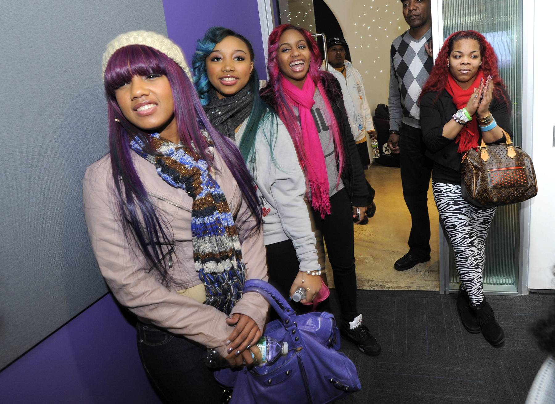 Rainbow Power - Beauty, Star and Babydoll are rockin' their pink, blue and purple hair like the fashion forward, fly divas that they are!(Photo: John Ricard / BET)