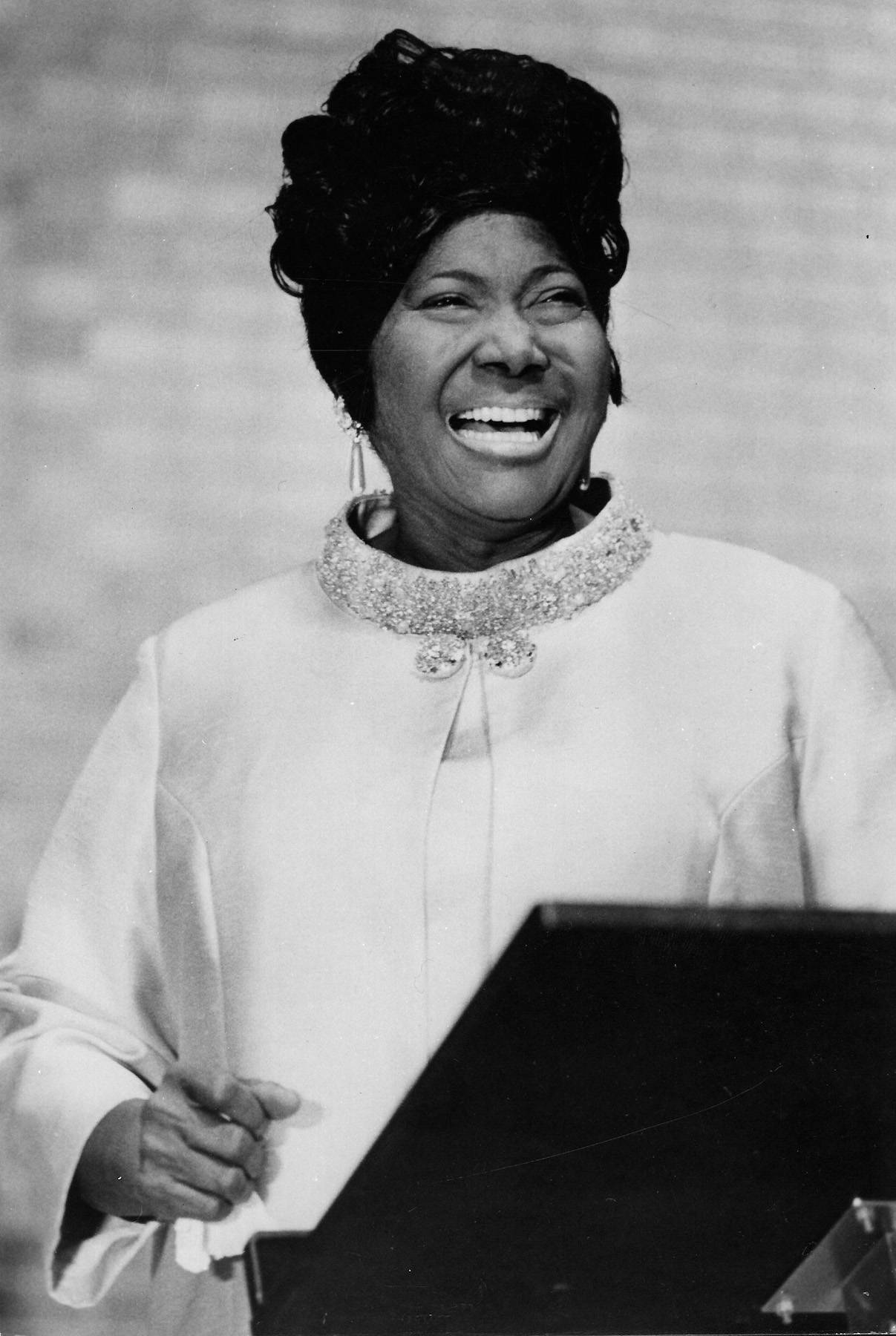 Mahalia Jackson - Mahalia Jackson was regarded as one of the most influential gospel singers in the world. Jackson performed ?I Been Buked and I Been Scorned? beforeMartin Luther King Jr.gave his speech at theMarch on Washingtonfor Jobs and Freedomin 1963.(Photo: Keystone/Getty Images)