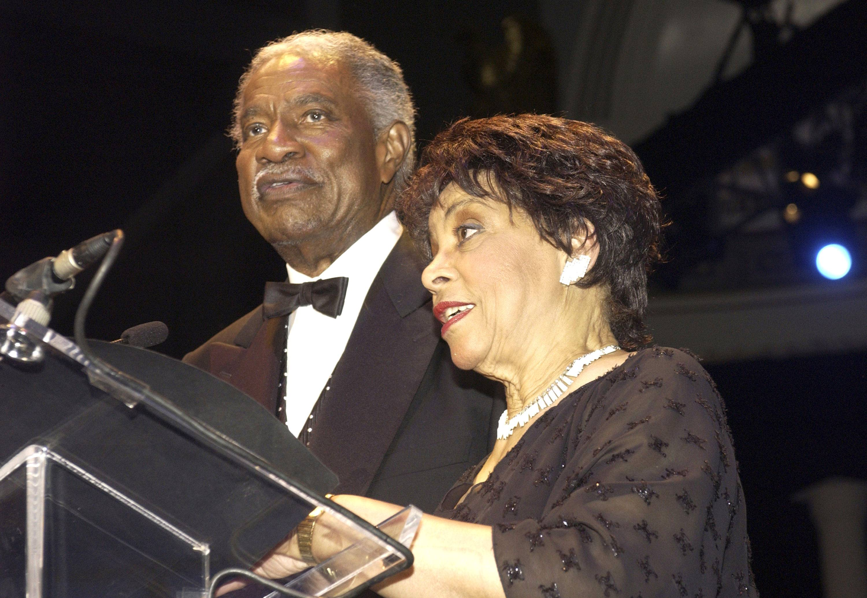 Ruby Dee and Ossie Davis - Ruby Dee and Ossie Davis had been married 56 years, before Davis passed away in 2005 at 87. The inseparable Hollywood couple became friends while performing in the Broadway drama Jeb in 1946. Years later, Davis proposed to Dee via telegram, and the couple married on Dec. 9, 1948.(Photo: Stephen Boitano/Getty Images)